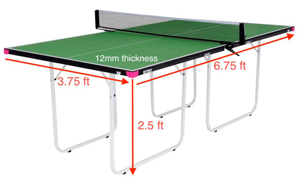 Butterfly 3 4 Junior Table Tennis Table