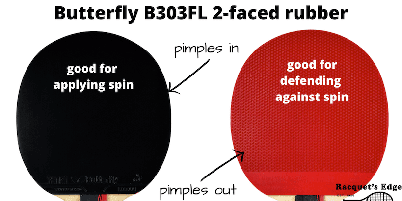 Butterfly 303fl Ping Pong Paddle With 2 Faced Rubber
