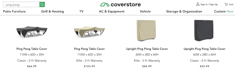 Coverstore Covermates Ping Pong Table Covers