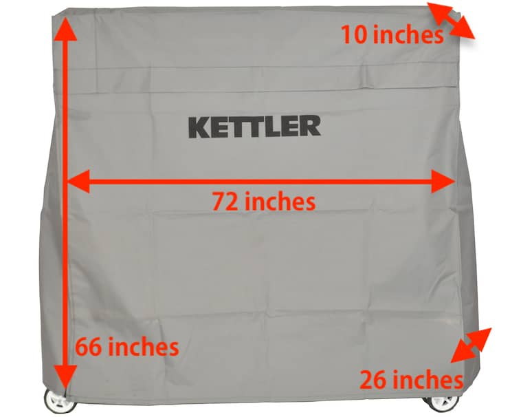 Kettler Ping Pong Table Cover Size