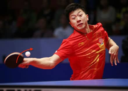 Ma Long Fronthand Topspin Shot Table Tennis
