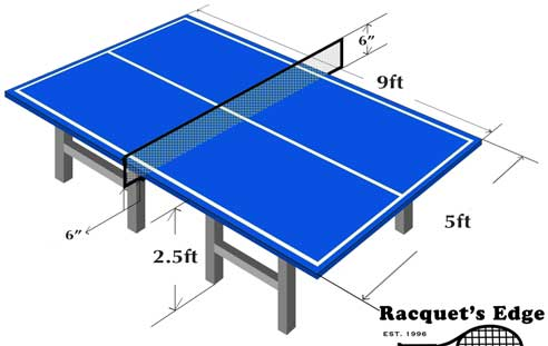 Table Tennis Professional Dimensions